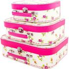 Valise bouquet de roses GM